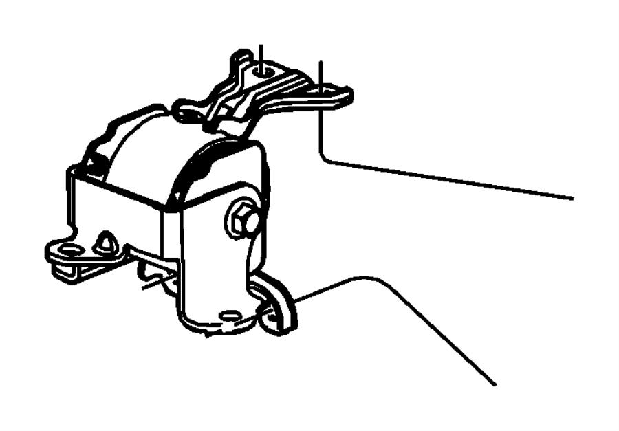 Jeep Compass Insulator. Engine mount. Left side. [5-speed