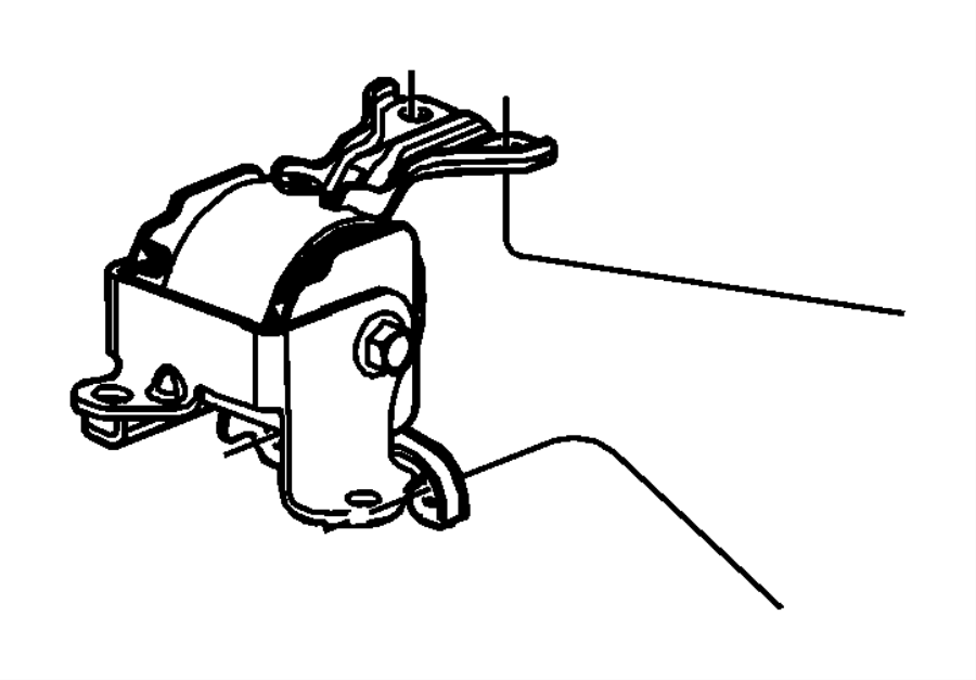 2016 Jeep Patriot Insulator. Engine mount. Left side. [5