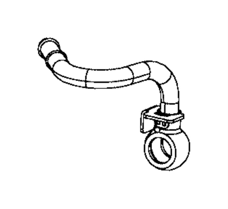 2013 Dodge Dart Tube. Turbo water feed. Includes banjo