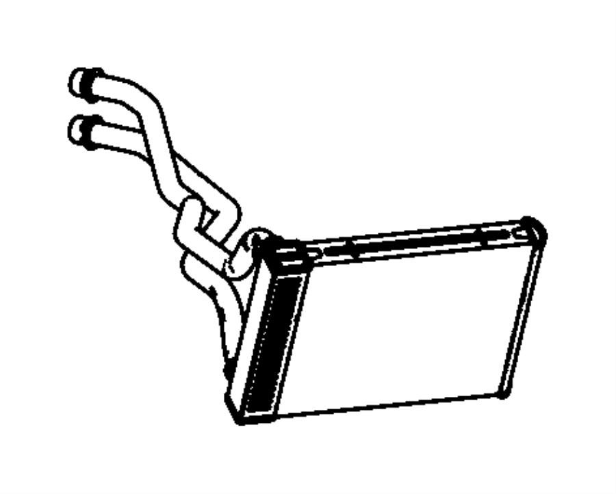 Dodge Dart Core. Heater. Instrument, module, air