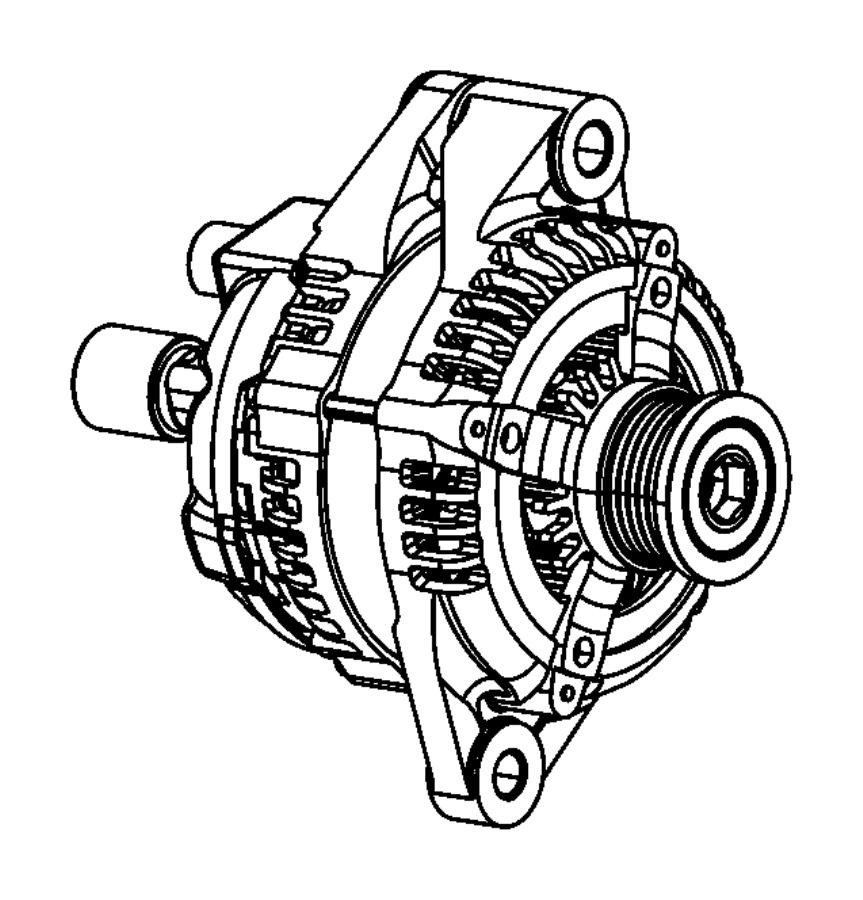 Fiat 500 Generator. Engine. [140 amp alternator]. Bae