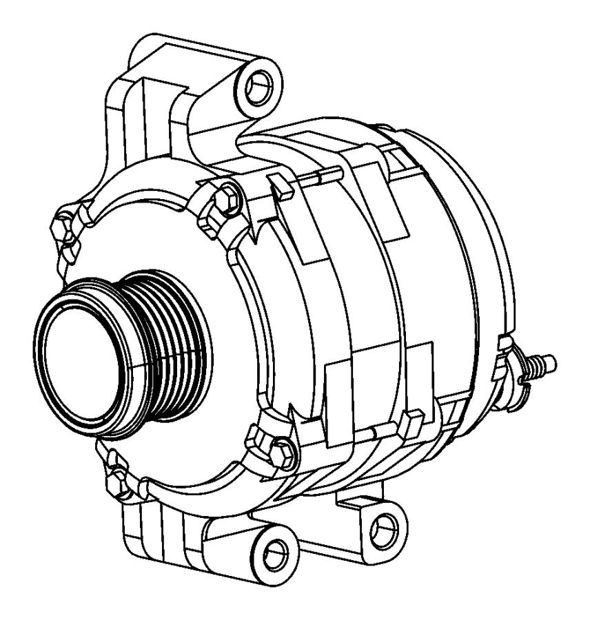 2015 Dodge Dart Generator. Engine. [140 amp alternator