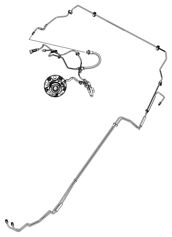 2016 Jeep Compass Tube. Brake. Left rear. Engine, vvt