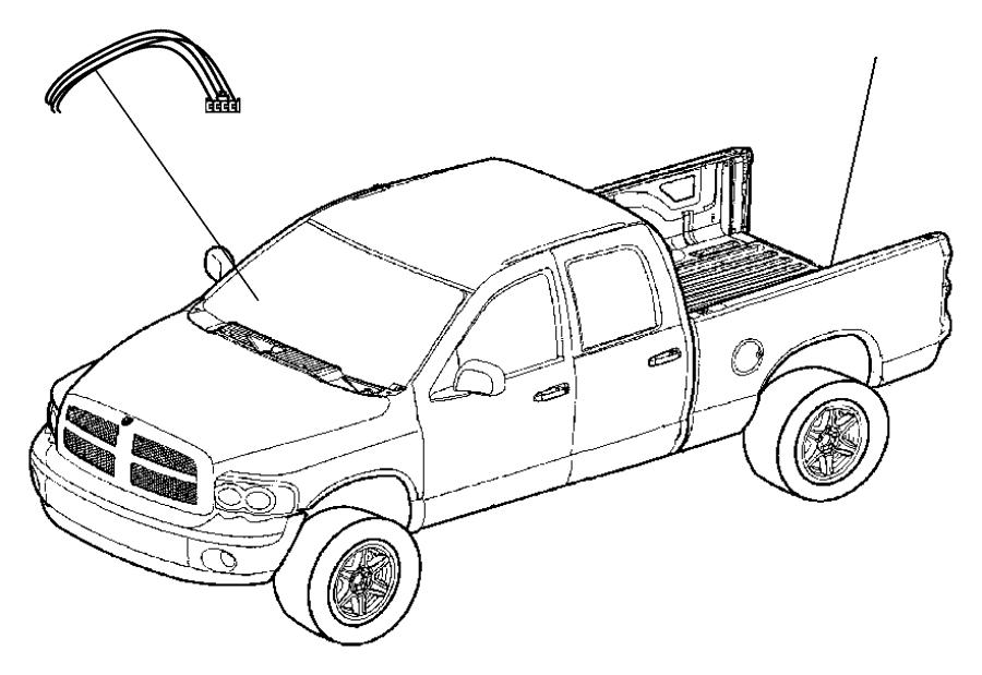 2016 Ram 5500 Wiring kit. Trailer tow. Brake, jumper