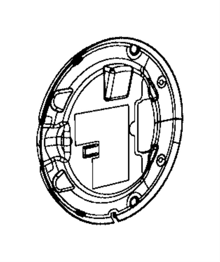 Ram 2500 Seal. Fuel filler door. Includes label. Cargo