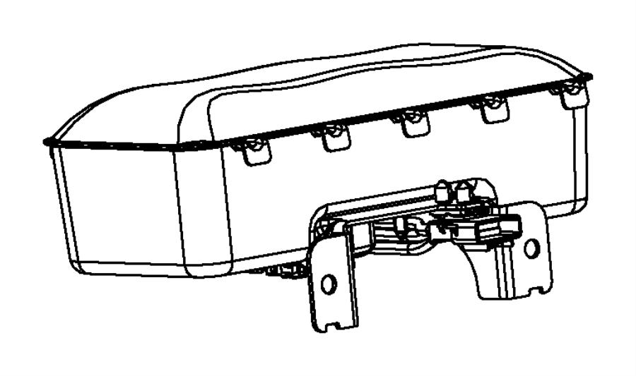 2013 Dodge Dart Air bag. Passenger. Bags, front