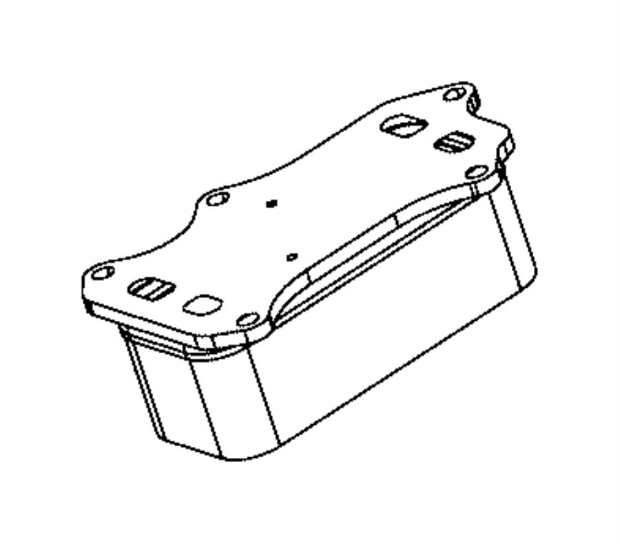 2015 Ram 3500 Cooler. Engine oil. Adapter, filter