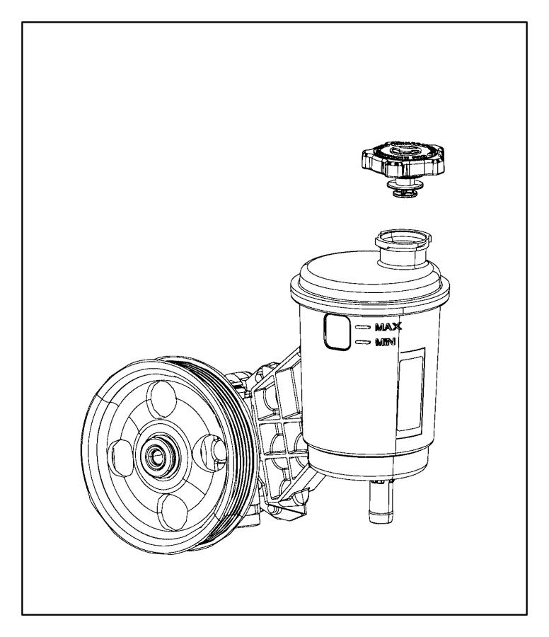 2012 Dodge Ram 1500 Pump. Power steering. Reservoir
