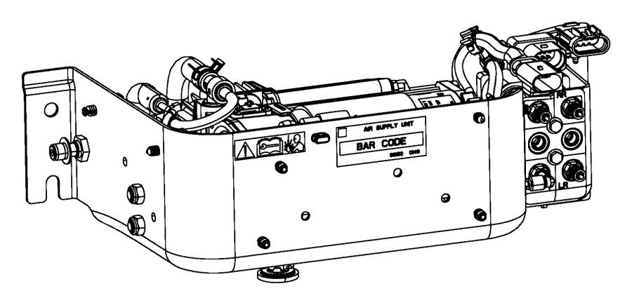 2017 Ram 2500 Compressor assembly. Air suspension. Rear