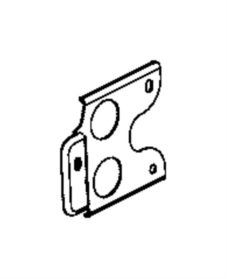 2016 Ram 1500 Bracket. Engine wiring. Front support, front