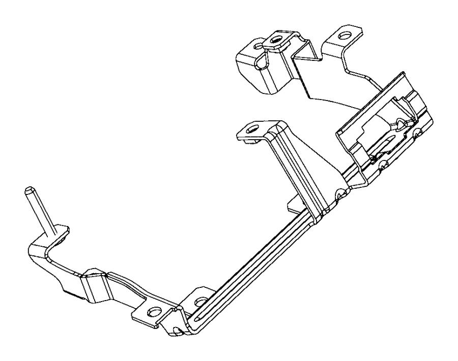 Ram 2500 Bracket. Fuse block. Module, mopar, modules