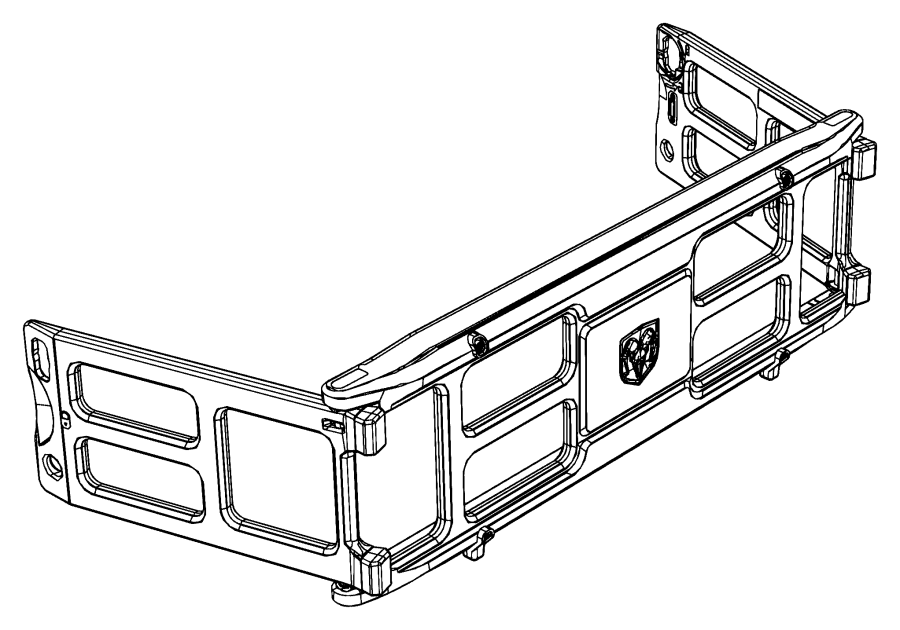 2019 Ram 1500 Panel. Pickup box extension. [truck bed