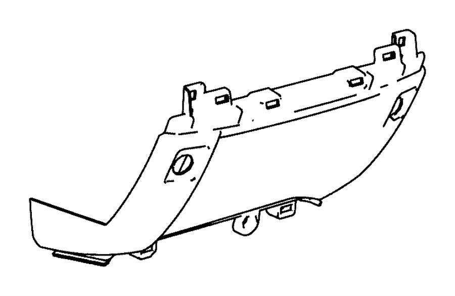 2015 Ram 1500 End cap, panel. Instrument panel, instrument