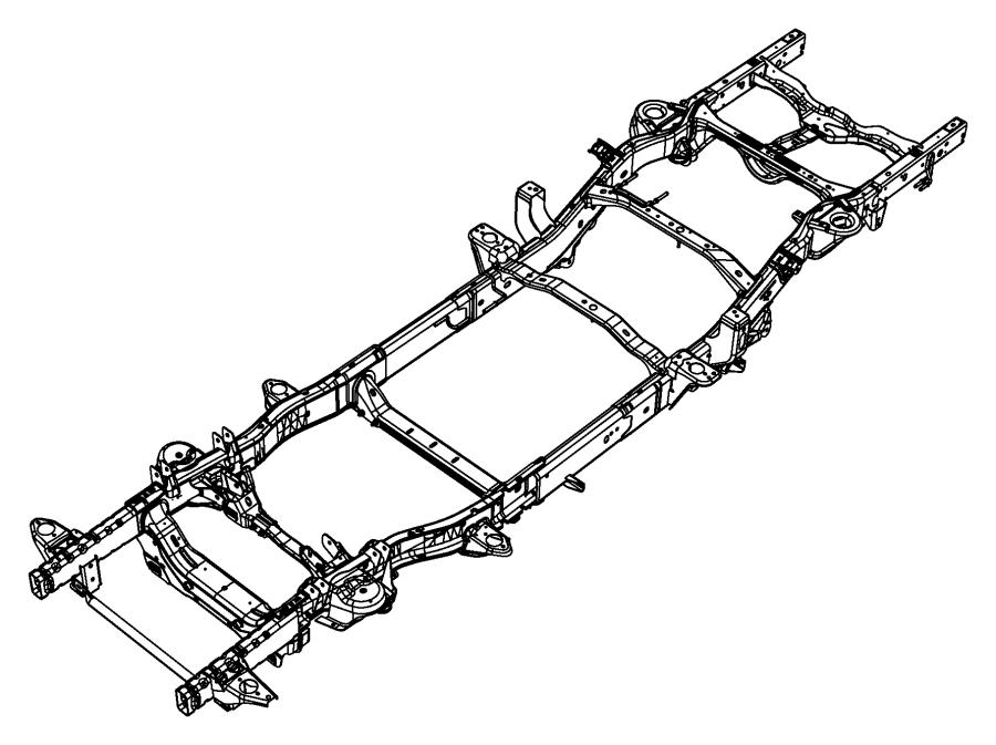 Ram 1500 Frame. Chassis. [3.6l v6 24v vvt engine] or [5.7l