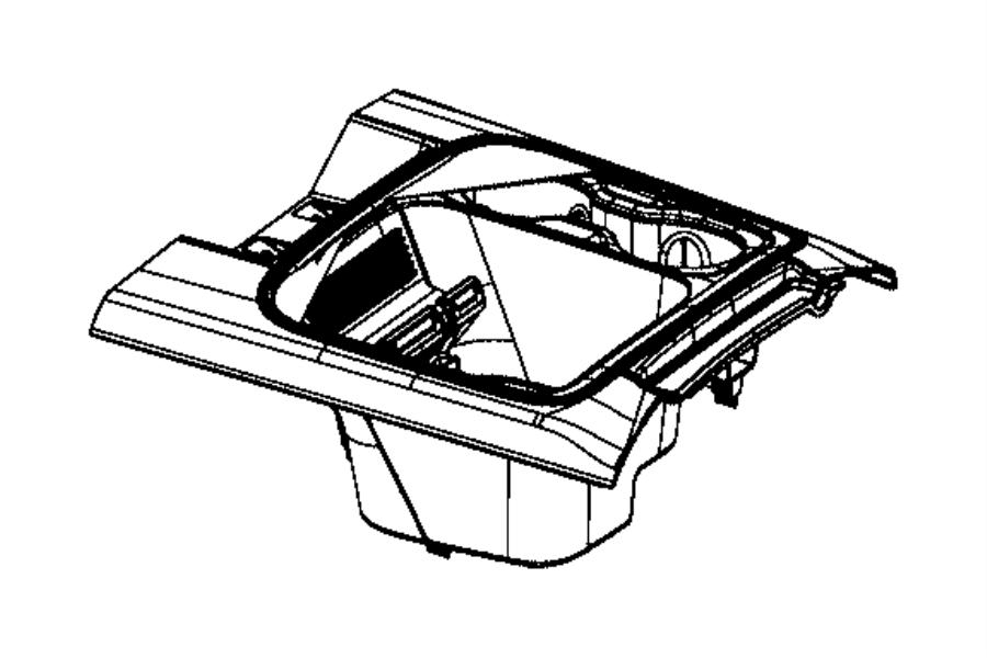 Dodge Ram Mat Floor Console Trim Prem Leather