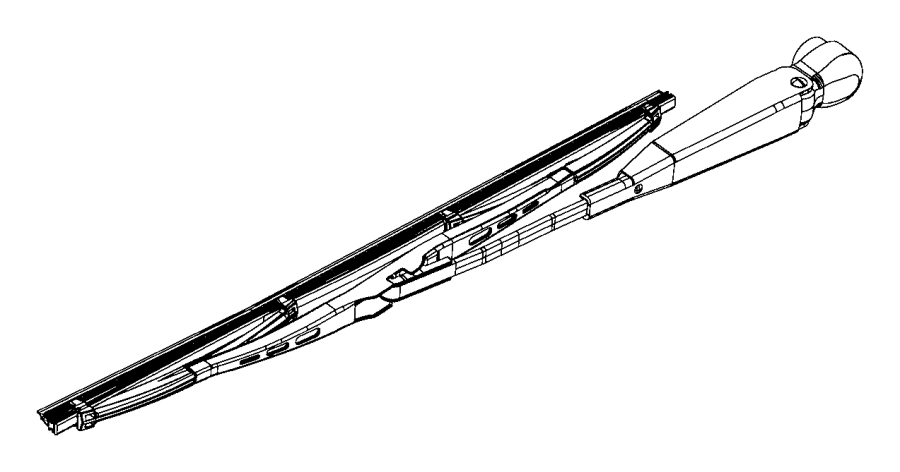 Ram PROMASTER CITY WAGON Used for: ARM AND BLADE. Rear