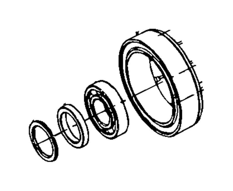 2014 Chrysler 300 Bearing. Thrust. Rear. [3.6l v6 24v vvt