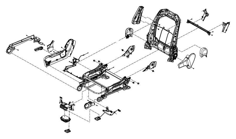Dodge Durango Cover. Seat recliner. Left. Rear. Inner