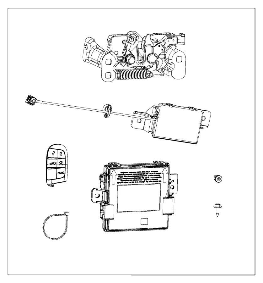2016 Chrysler 200 Transmitter. Integrated key fob. [remote