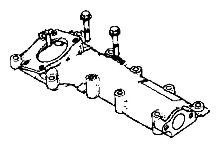 2015 Ram 3500 Plenum. Intake manifold. Heater, engine