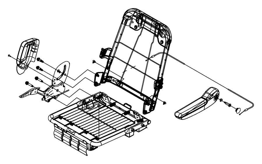 2014 Ram C/V Cable. Recliner. Right or left. Trim: [vinyl