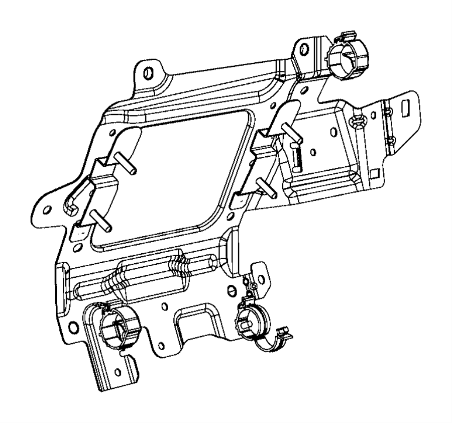 2017 Jeep Renegade Bracket. Engine wiring. Oxygen