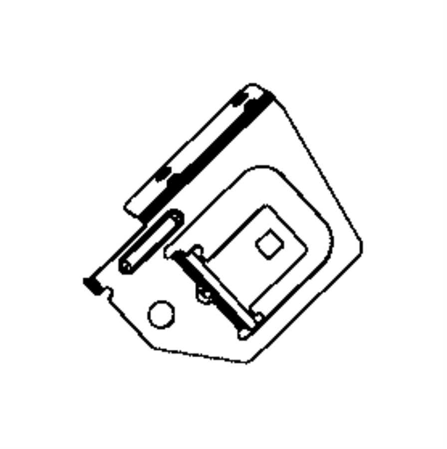 Ram 1500 Bracket. Fuse block. [stop-start system