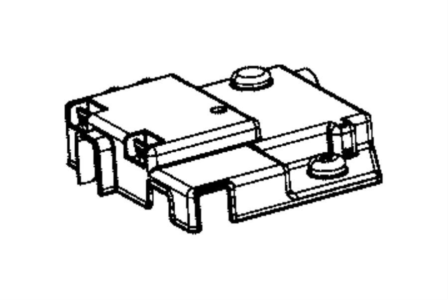 2015 Ram 1500 Cover. Battery, fuseblock. Export, mexico