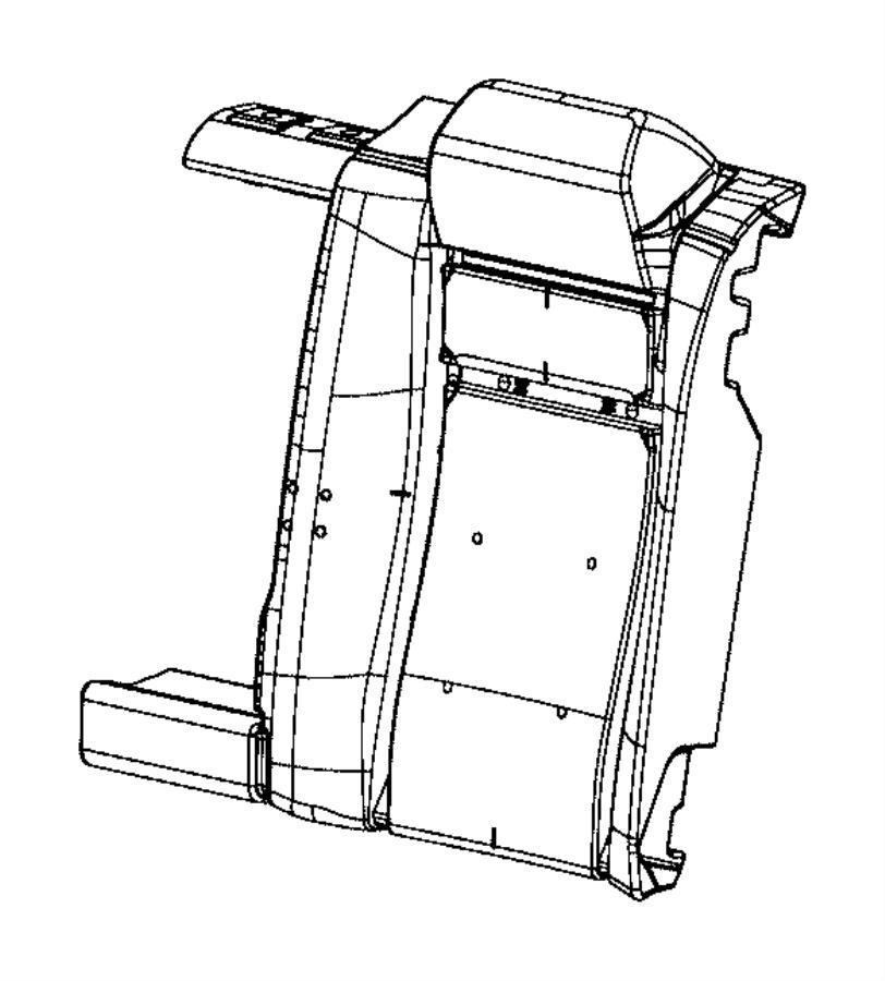 2015 Chrysler 300 Foam. Seat back. Trim: [scat pack logo