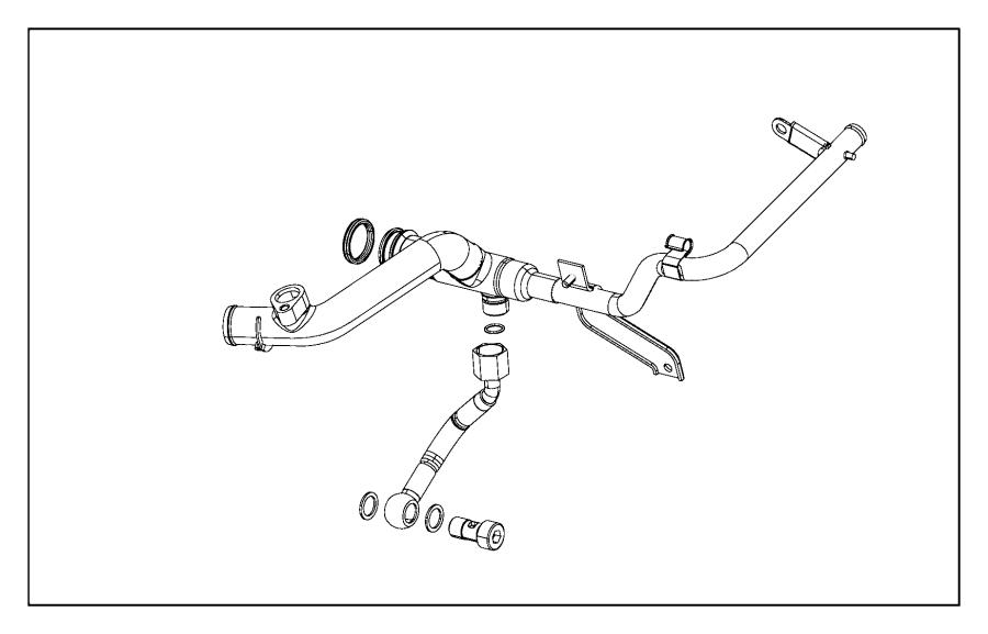 2016 Jeep Renegade O ring. Coolant tube. [engine block