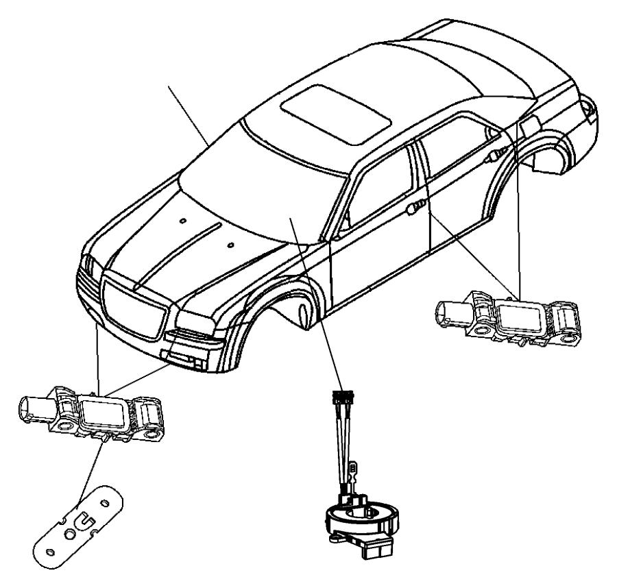 2016 Chrysler 300 Module. Steering column. Trim: [no