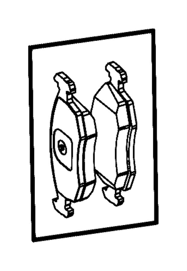 2014 Fiat 500L Pad kit. Front disc brake. Canada, mexico