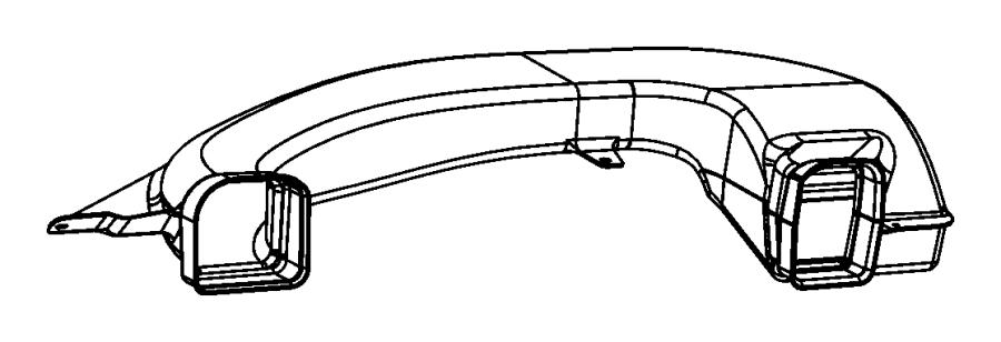 Chrysler 300 Duct. A/c outlet. Trim: [no description