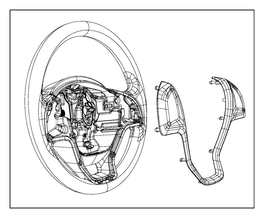 Ram ProMaster City Wheel. Steering. [speed control]. Trim