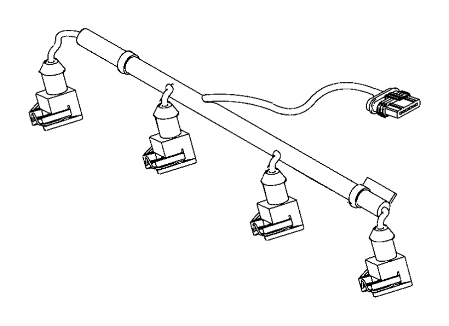 2017 Jeep Renegade Wiring. Injector. Us, canada. Mexico