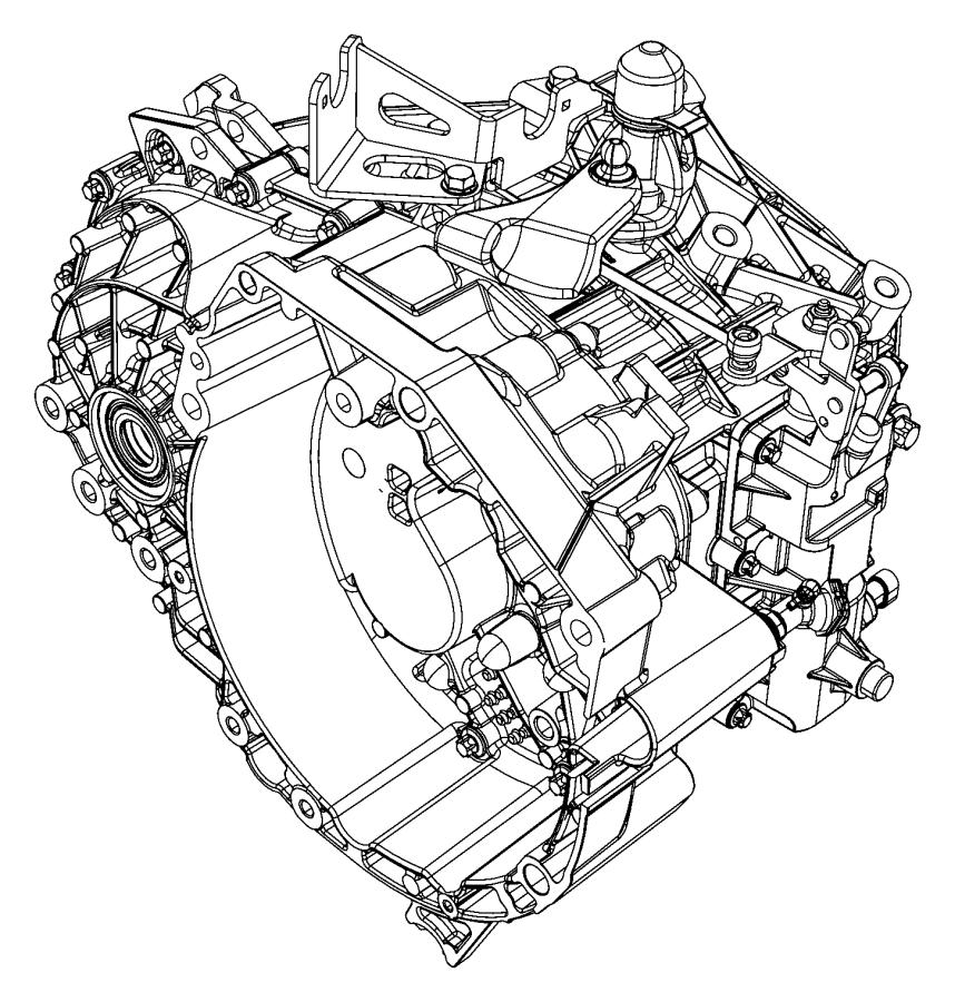 Jeep Renegade Transmiss. 6 speed. Transaxle, transmission