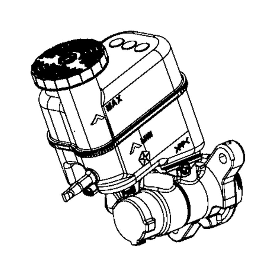 2015 Jeep Renegade Master cylinder. Brake. [6-speed c635