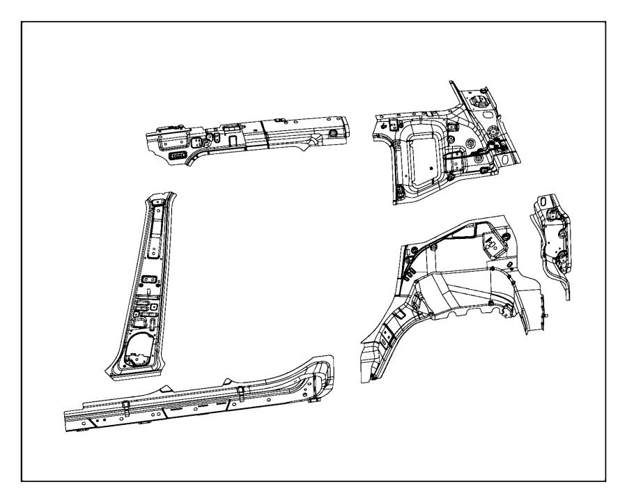 2017 Jeep Renegade Reinforcement. C-pillar. Left, right
