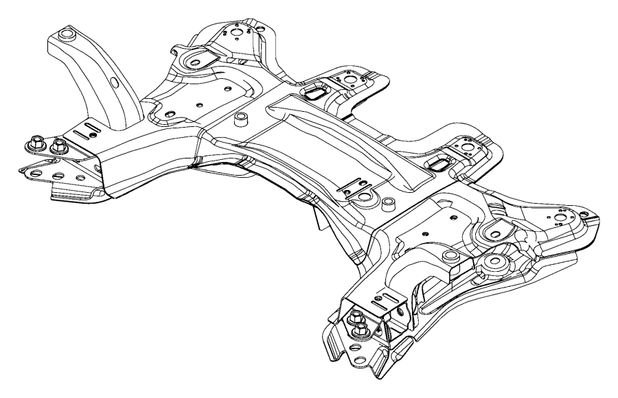 2016 Jeep Renegade Crossmember. Front suspension. Steering