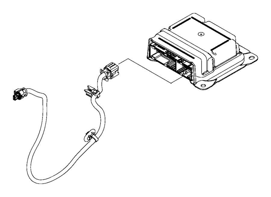 2015 Jeep Renegade Harness. Electrical. Air, bag, module