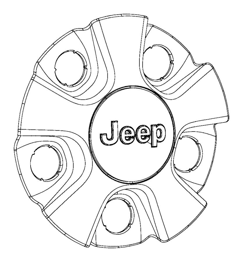 2019 Jeep Cherokee Cap. Wheel center. Color: [no
