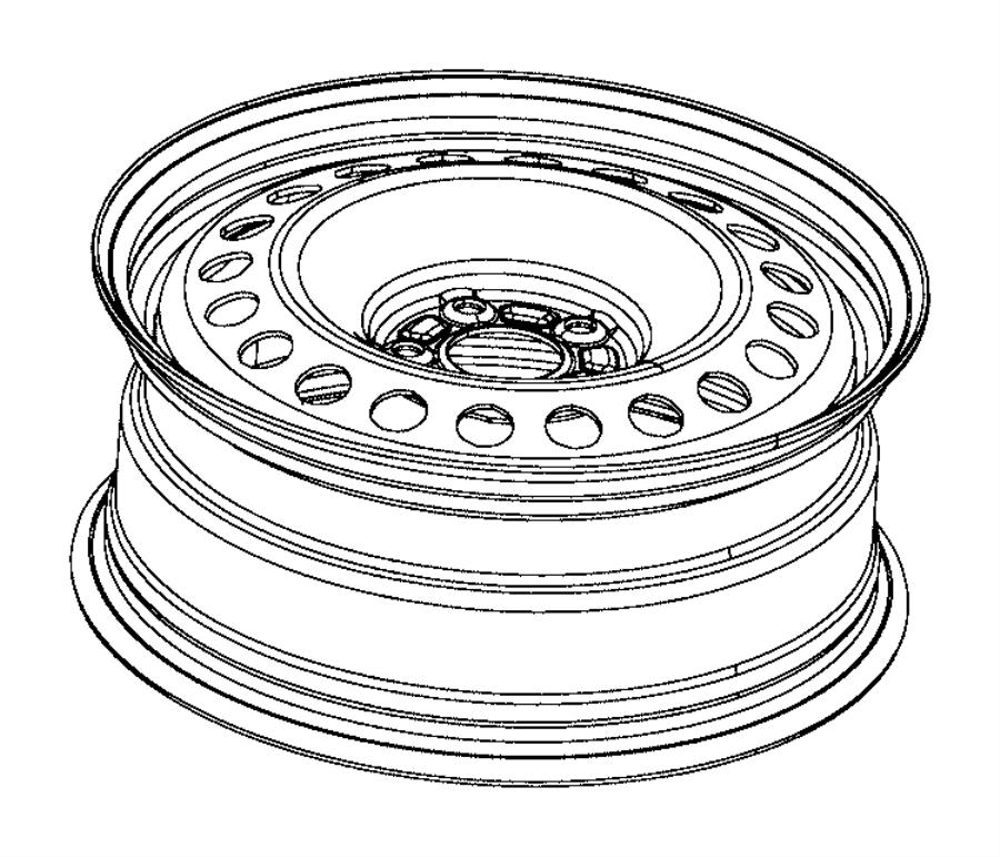 2016 Jeep Cherokee Wheel. Steel. [tire and wheel parts