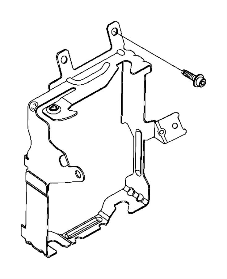 2015 Jeep Renegade Bracket. Body control module. Export