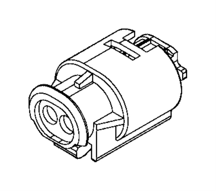 Ram PROMASTER CITY WAGON SLT Connector, repair kit. Abs