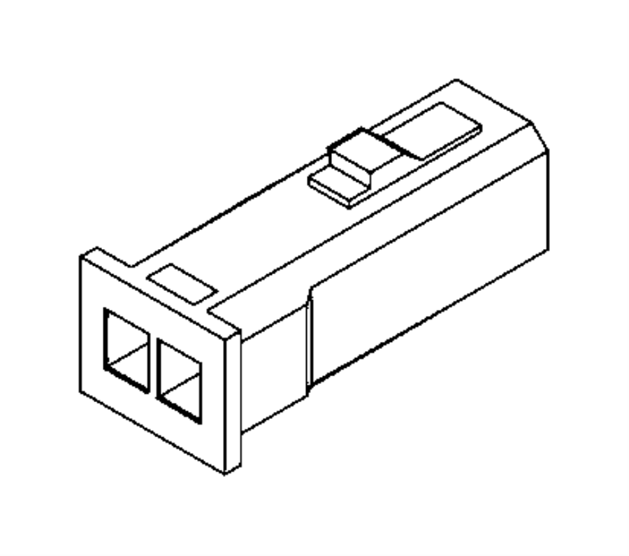 Ram PROMASTER CITY WAGON SLT Connector. Electrical. Export