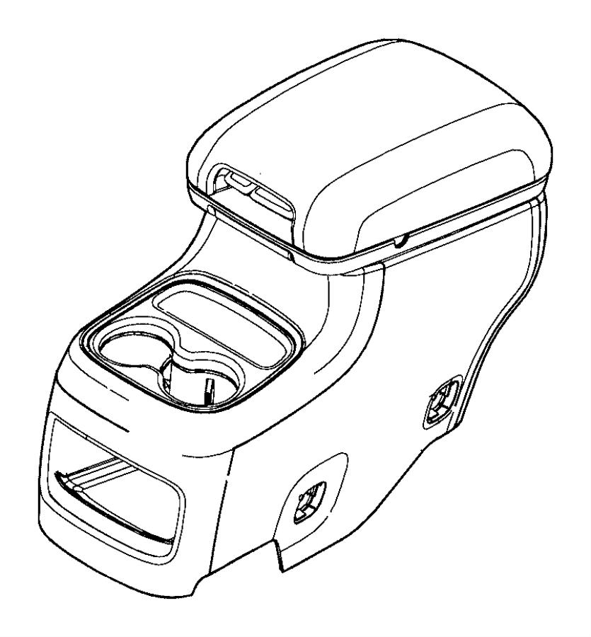 2015 Dodge Durango End cap. Console. [black/lt frost beige