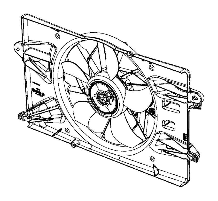 Chrysler 200 Fan module. Radiator cooling. Related
