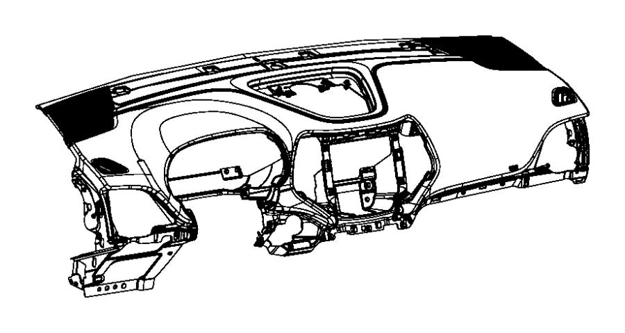 Jeep Cherokee Panel. Instrument panel. Export, right hand