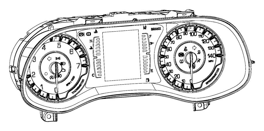 Chrysler 200 Mask. Instrument cluster. Module, panel