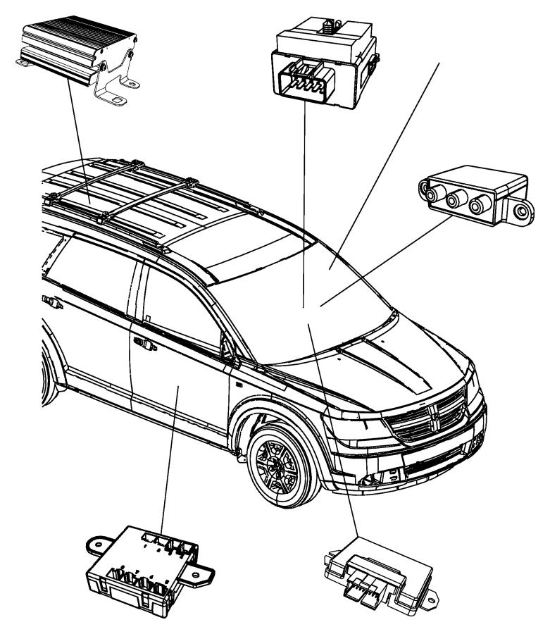 2014 Dodge Journey Bracket. Module. Command, rsq, voice